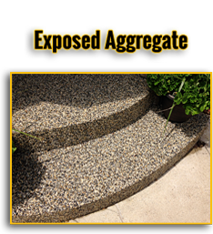 Exposed Aggregate Button